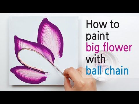 (262) Chain pull technique _ Big flower _ Acrylic