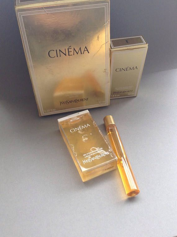 Ysl Cinema Yves Saint Laurent Perfume Set Shower Gel Roll On