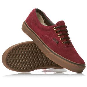 NEW VANS ERA AUTHENTIC SUEDE TAWNY PORT GUM MAROON SHOES SKA ... 705217ebb757