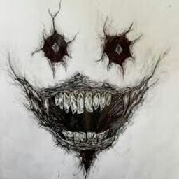 Scary Face Art In Creepy Drawings Creepy Art Scary Drawings