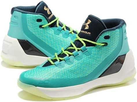 8b609a2ccee7 Under Armour UA Curry 3 Mens Basketball shoes Mint Green2