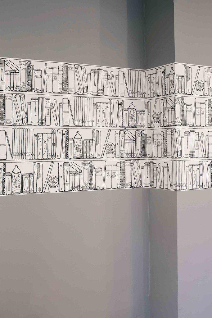 Bookshelves Chasing Paper Interior Wallpaper Chasing Paper Wallpaper
