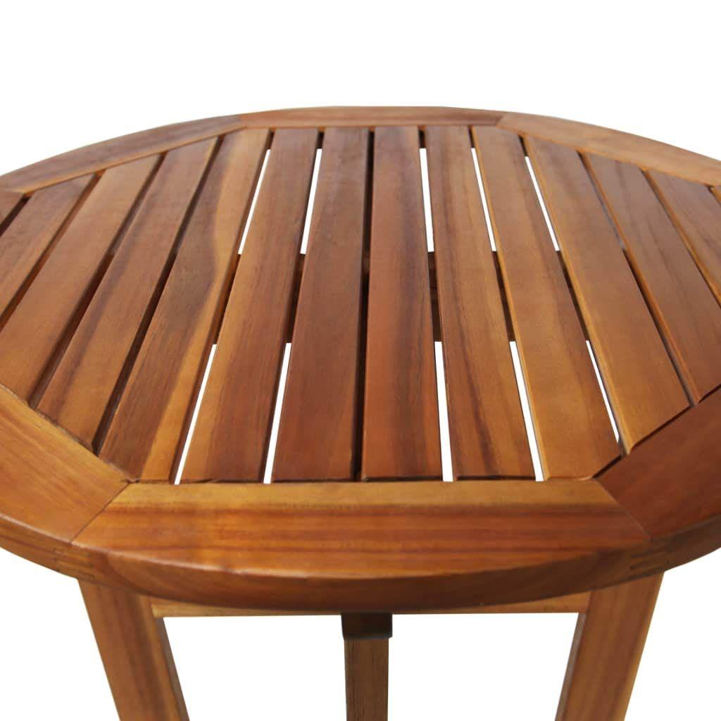 vidaXL Table de Bar Bois d\'Acacia Massif Haute Mobilier ...