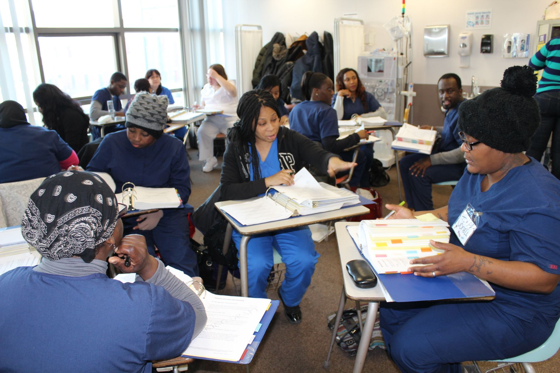Home health aide students healthcare training