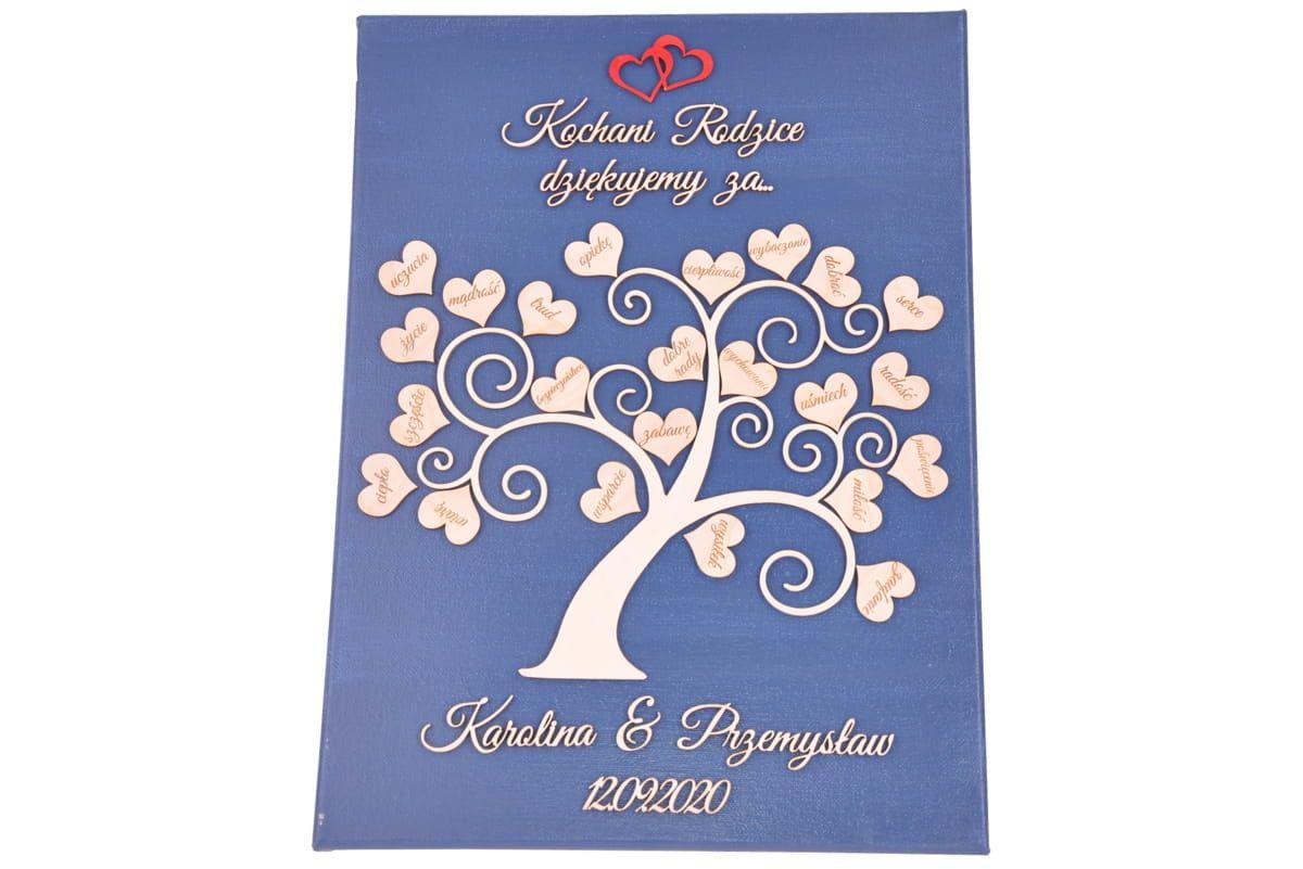 Kolorowe Podziekowanie Dla Rodzicow Drzewko Slub Wesele Obraz 3d Giftofdreamspl Birthday Wishes Wedding Wishes Birthday