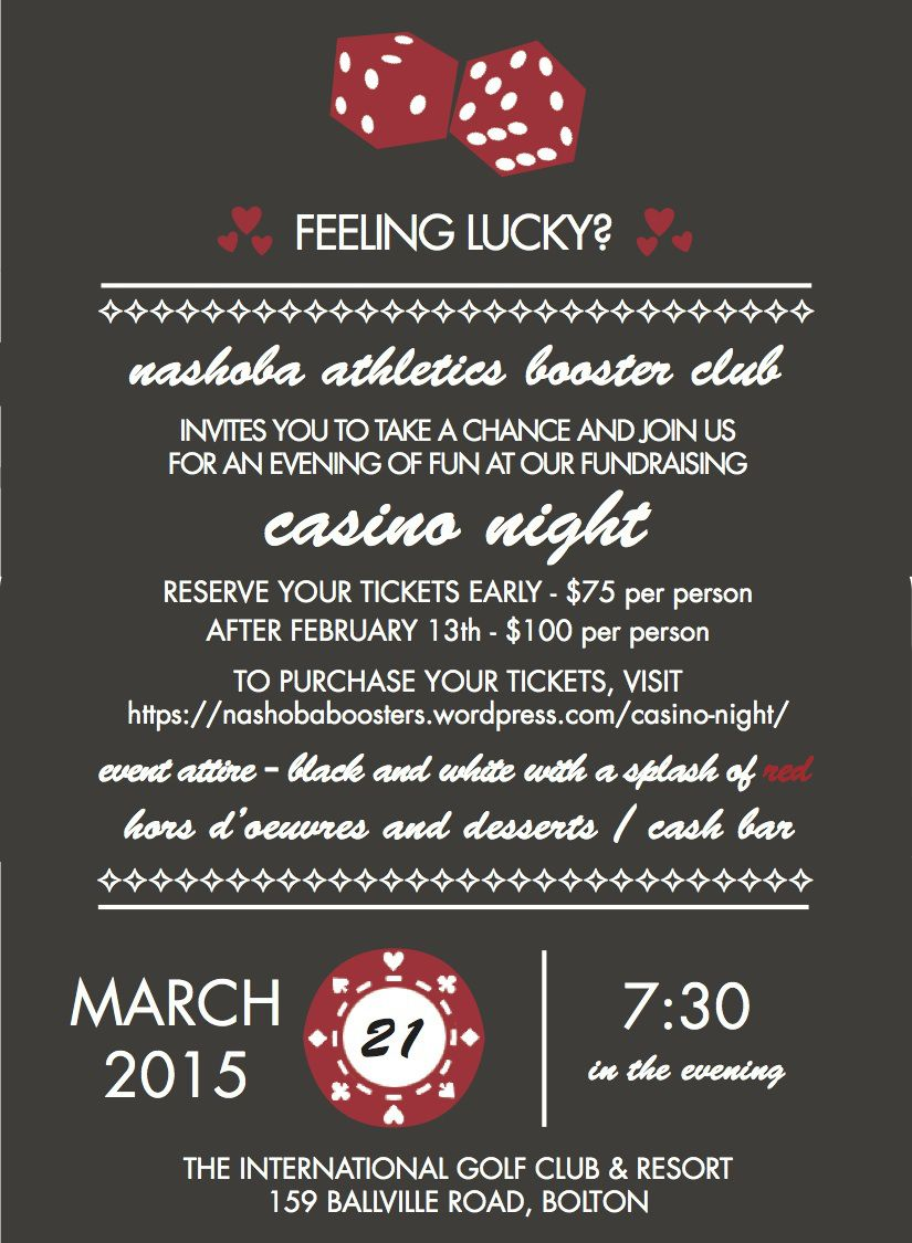 Casino Night Invite 3.21.15 | Parties - casino | Pinterest ...