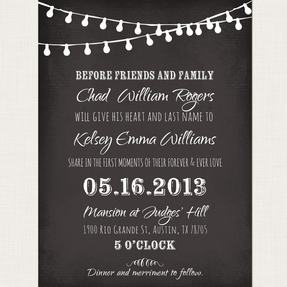 chalkboard wedding invitation templates - Google Search | Wedding ...