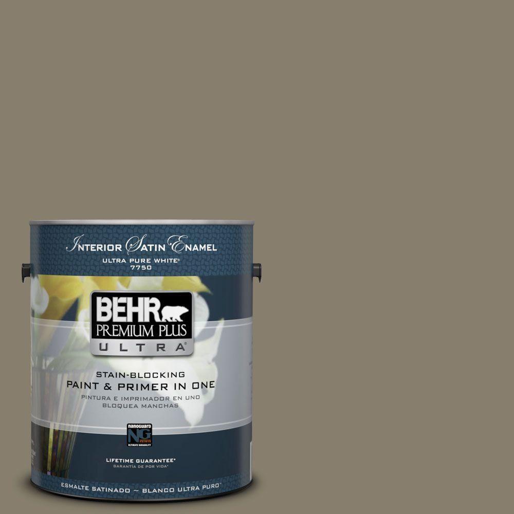 BEHR Premium Plus Ultra 1-gal. #ecc-14-2 Great Frontier Satin Enamel Interior Paint