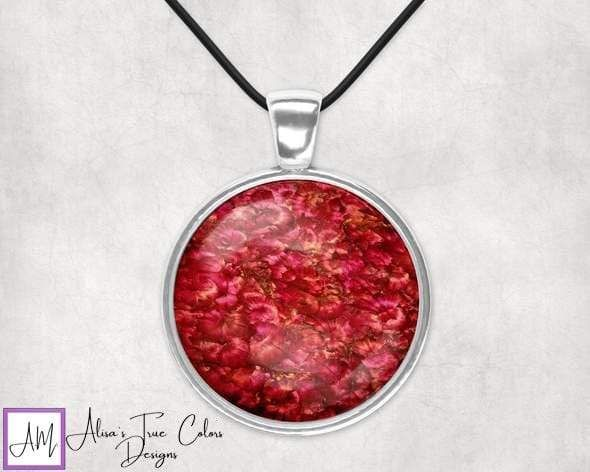 """About the Art Title: AmoreYear: 2019 Affirmation: """"I love you"""" Product Line: Alisa Marie Fine Art Empowerment Pendants Description: Our Fine Art Pendants empower you take control of your life. Encourages you to know that you have a purpose and you are enough. They provide a beautiful gift for yourself or for those that need a reminder that they are loved. Key Features: Hand Selected Designs from my artwork in a Silver plated bezel and glass dome. Choice of an adjustable 18-inch black 2mm cord, w"""
