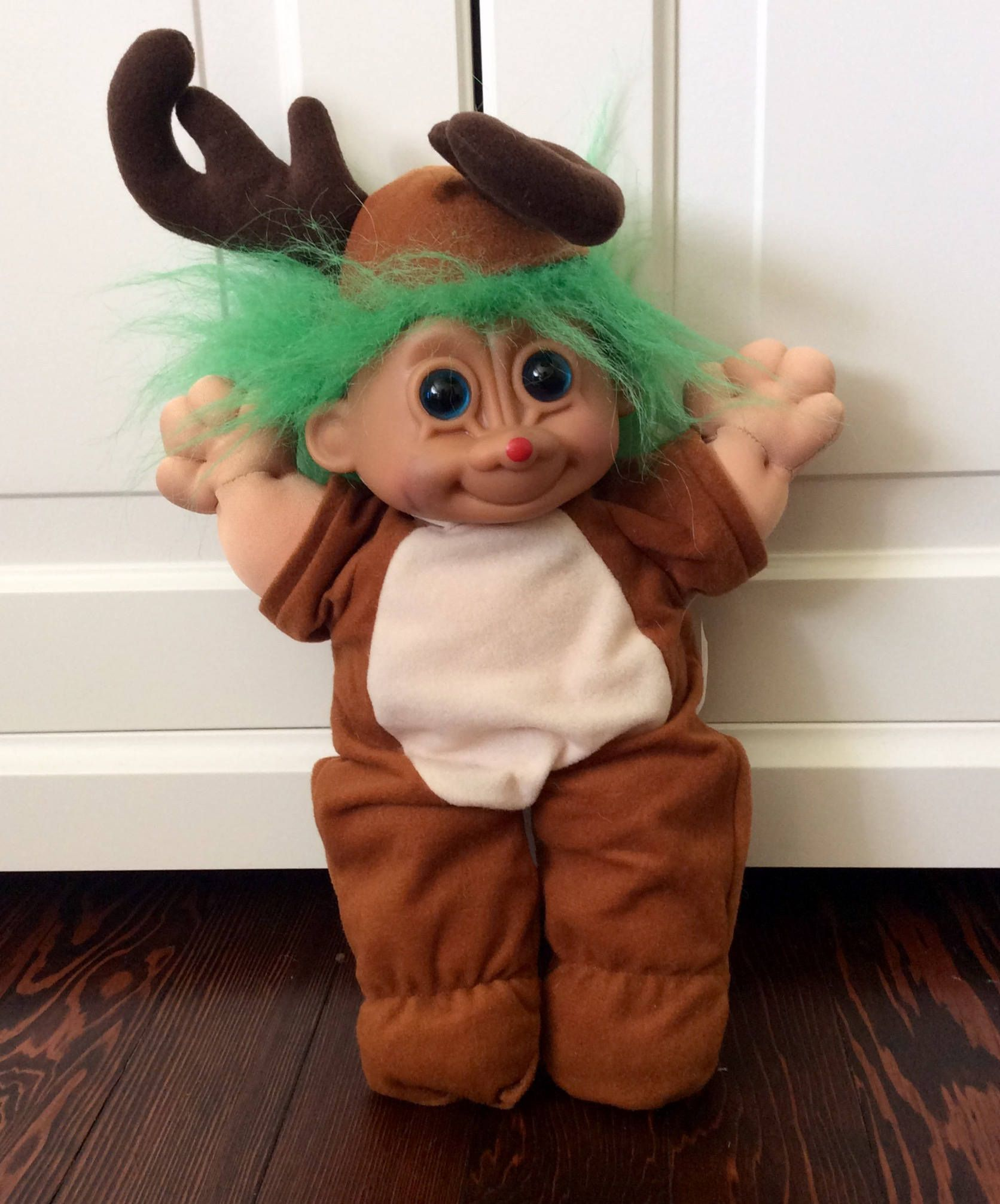 Russ Troll Kidz Plush Raindeer Troll Doll, Deer Troll Doll,