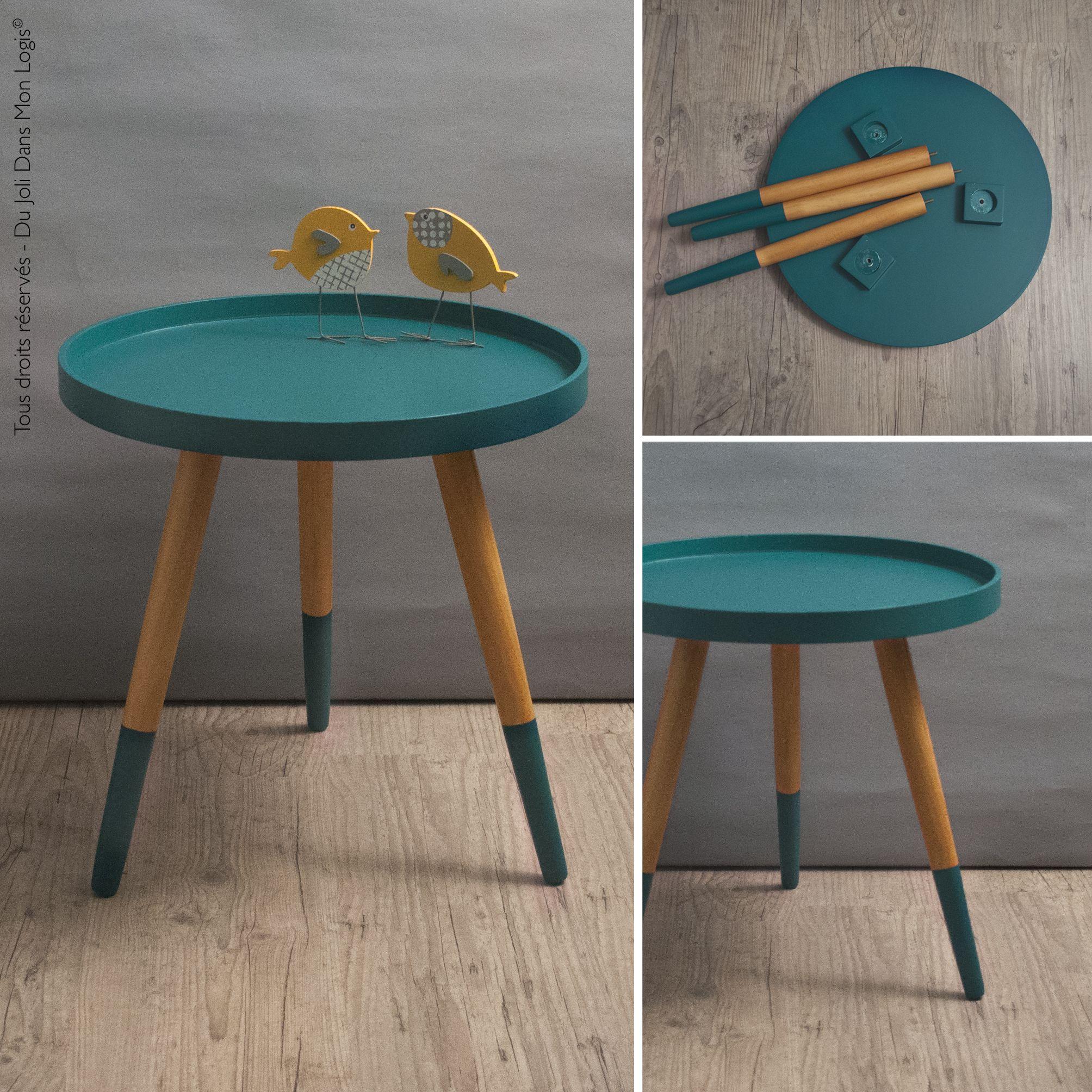 hermione, la table basse trop mignonne ! table tripode vert canard
