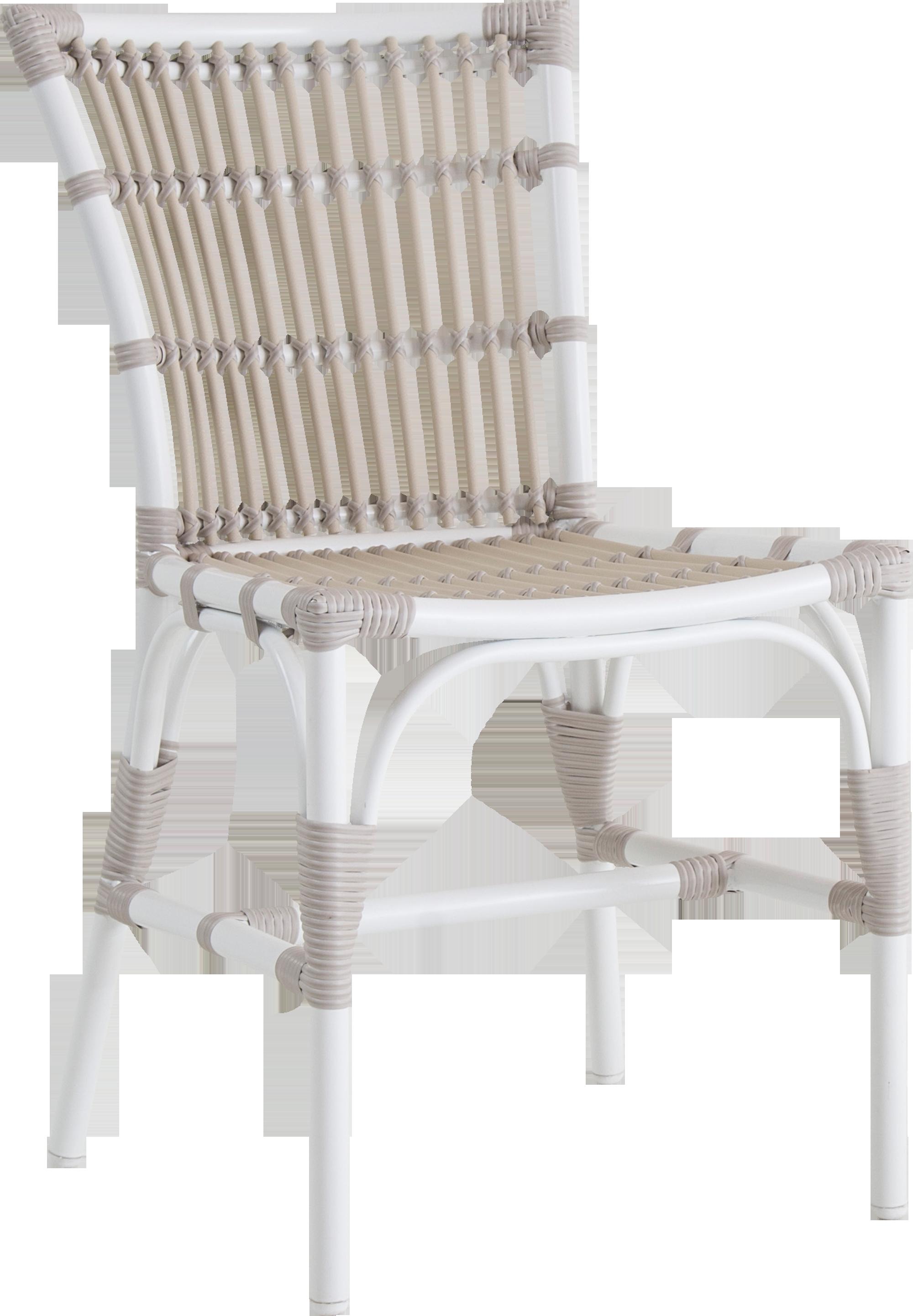 Sika Design Elisabeth Stuhl Aus Alu Rattan Für In  Und Outdoor, Weiß /