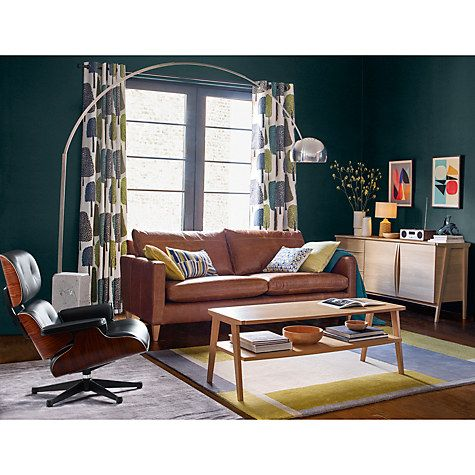 Buy John Lewis Bailey 3 Seater Semi Aniline Leather Sofa, Lustre Cappuccino  Online At Johnlewis.com