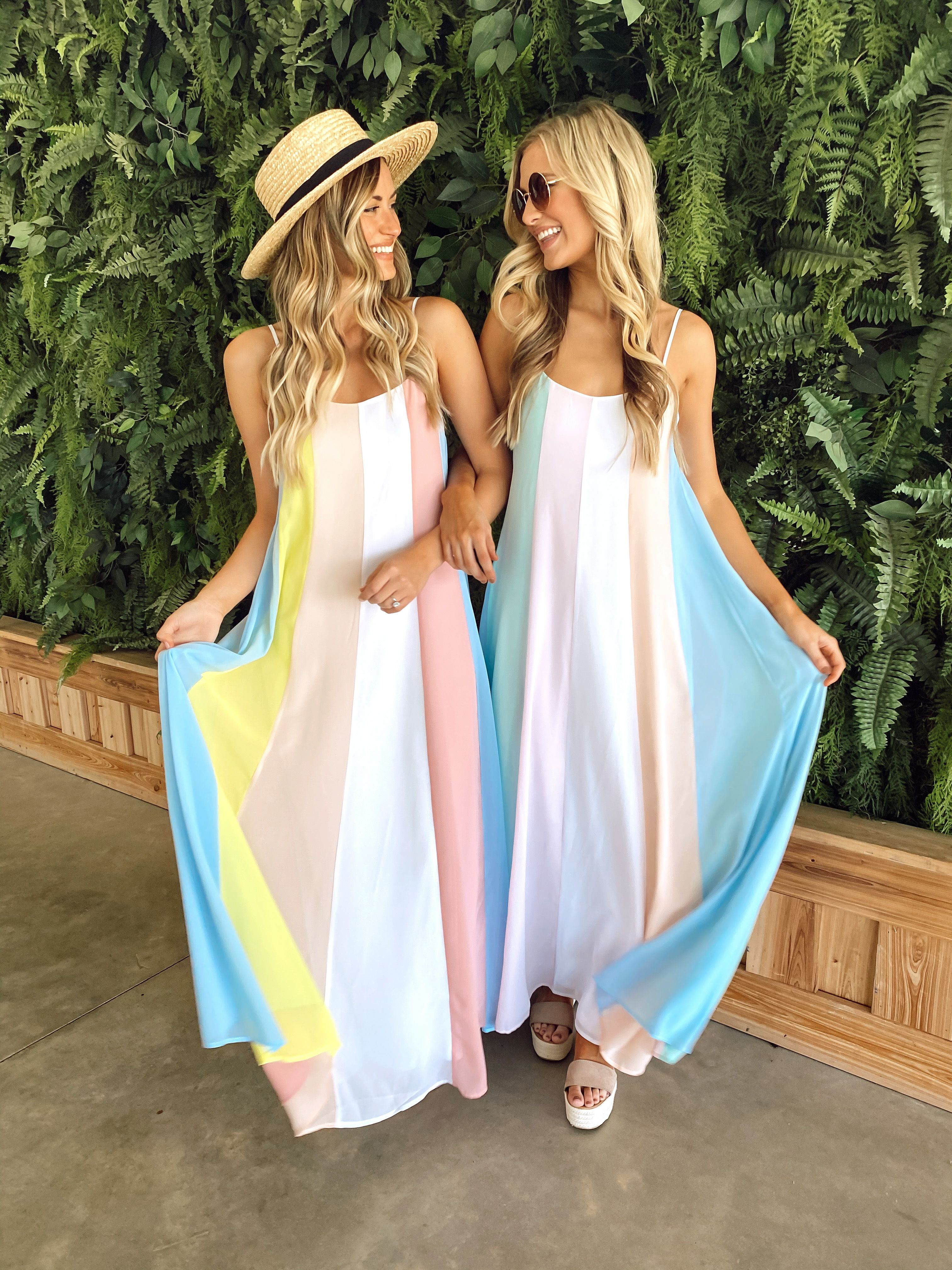 Beautiful And Bright Maxi Dresses In 2020 Cute Maxi Dress Bright Maxi Dress Striped Maxi Dresses