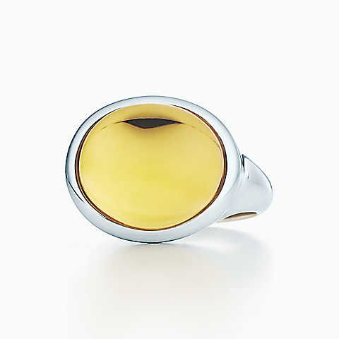 64edf2bb8 Elsa Peretti® Cabochon ring in sterling silver with a citrine ...