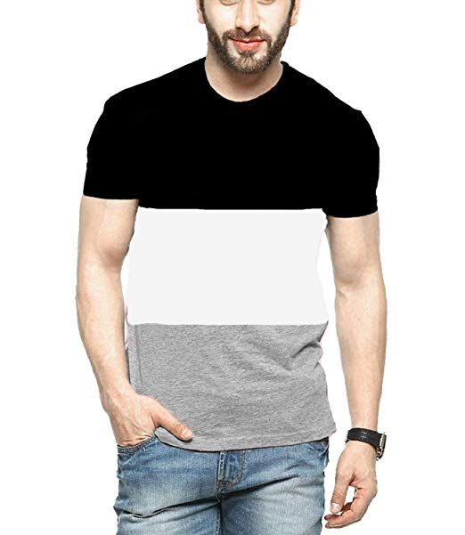ca75b22f9 2019 Veirdo Men s Plain Solid Half Sleeve Round Neck Cotton T-shirt ...