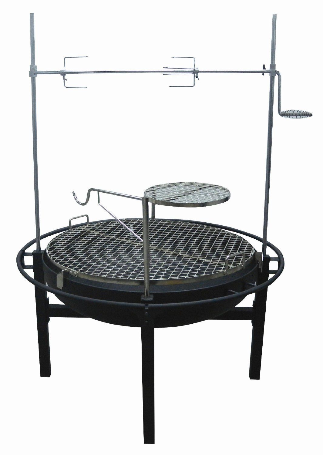 how to build a fire pit rotisserie