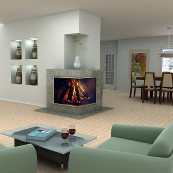 Corner Fireplaces Modern 2 Sided Corner Fireplace Design Photo Best Home Interior Design Home Interior Design Fireplace Design