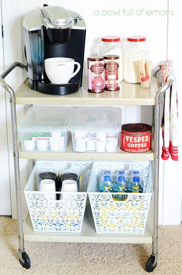 Organized Drink Station , perfect for your in home office or, sun ...
