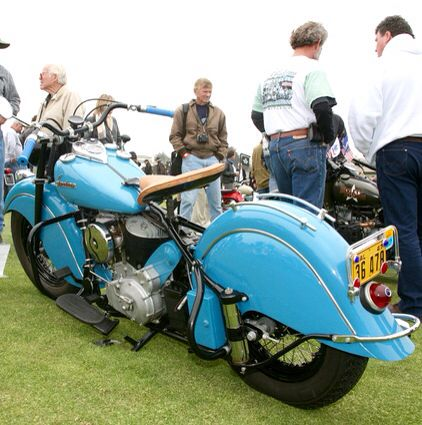 Pure 47 Indian Chief Sea Foam Blue With Orig Ca License Plate Indian Motorcycle Indian Roadmaster Indian Motors