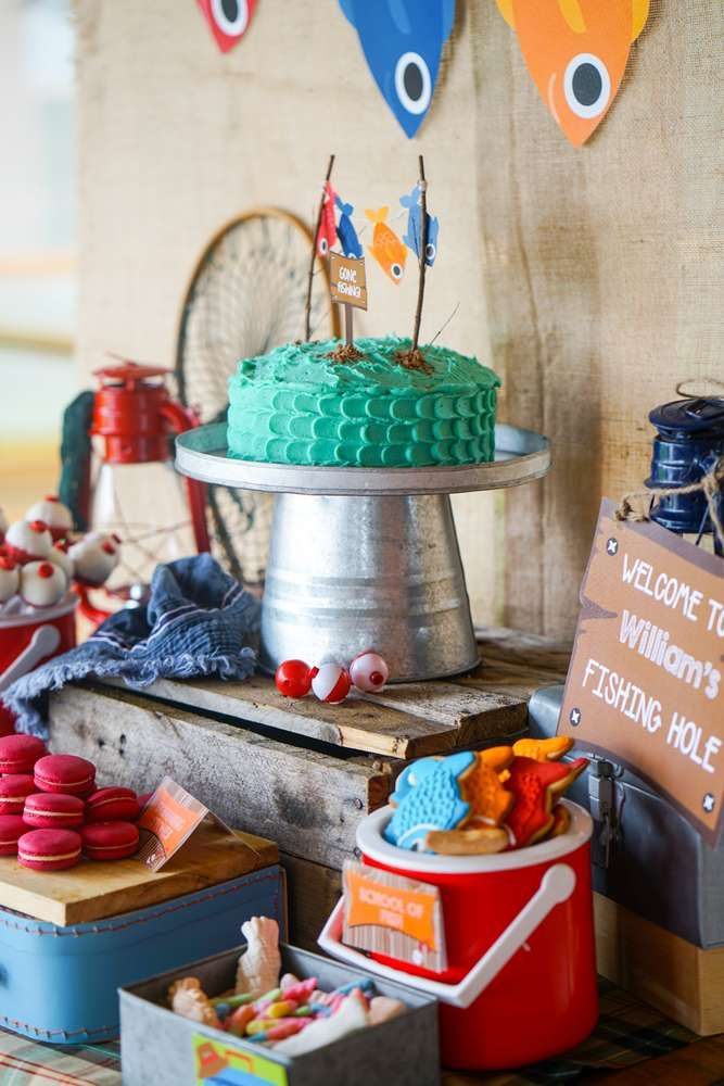 Fishing party birthday party ideas birthday party ideas for Fishing themed birthday