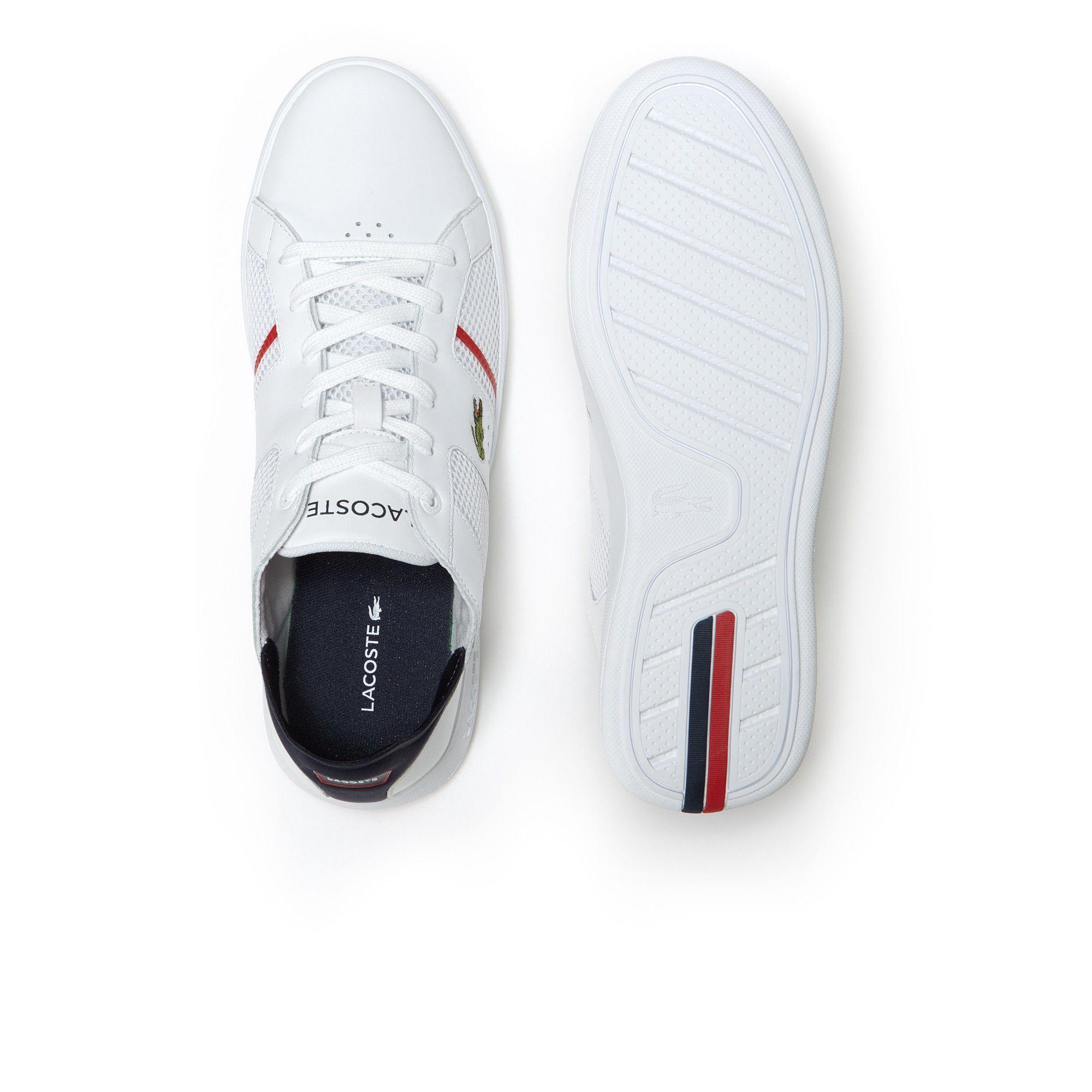 373fb65c4 Lacoste Men s Novas Ct Leather Trainers - White   Navy 10.5 ...