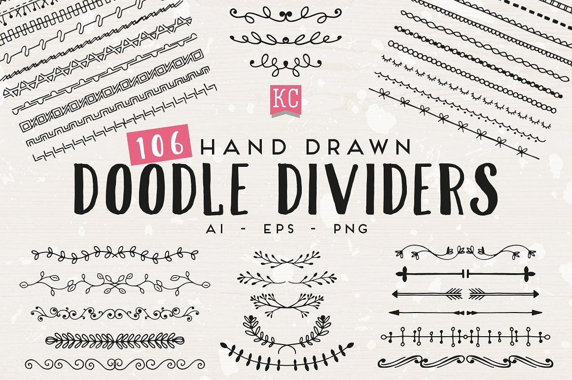 Hand drawn doodle dividers divider hand drawn and doodles