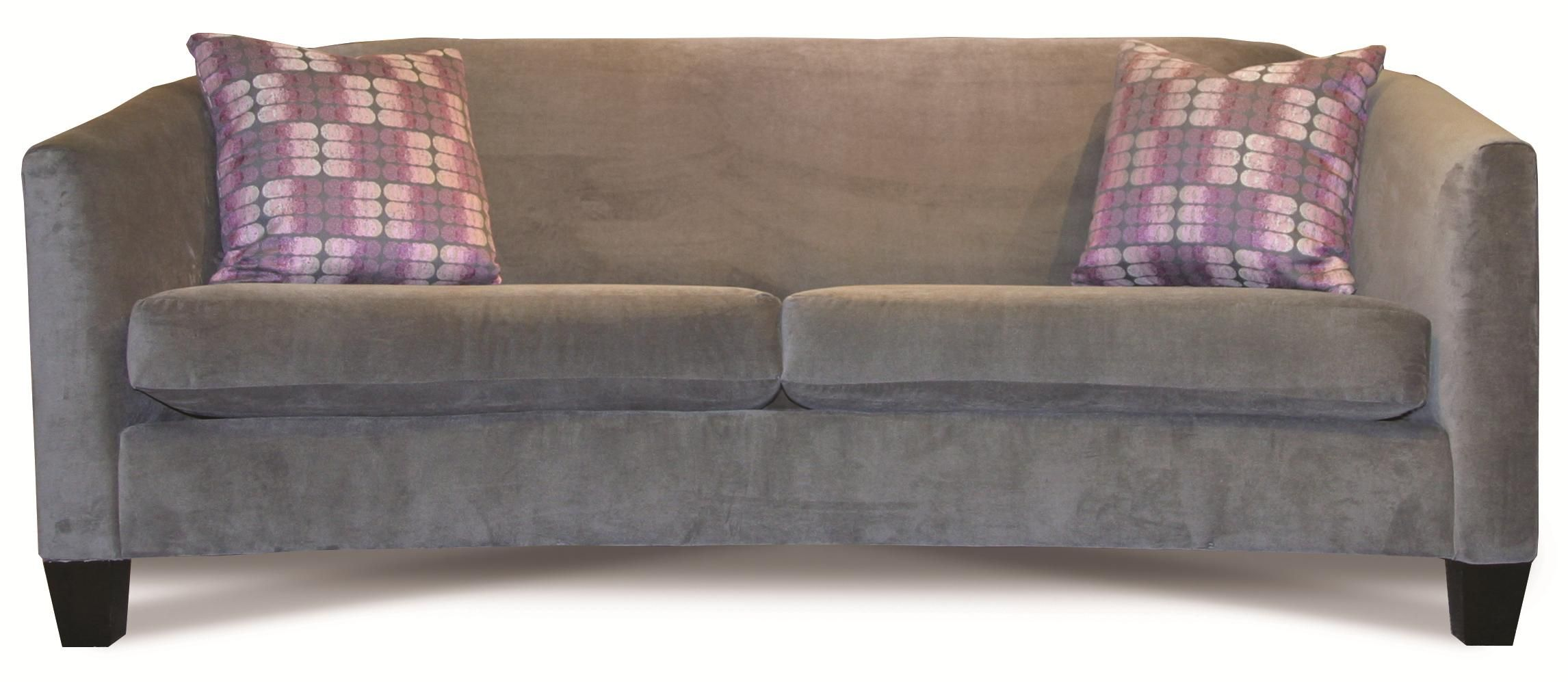 Rowe Easley Contemporary Sofa With Flared Track Arms And Wood Feet   Becker  Furniture World