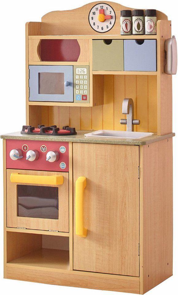 TEAMSON™ KIDS Spielküche Holz, Kinderküche mit Accessoires