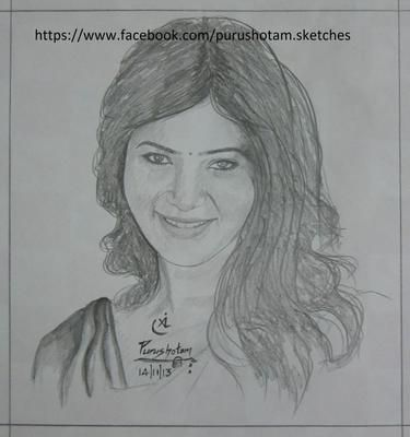 Pencil Sketch Samantha Ruth Prabhu Pencil Sketch Color Pencil Drawing Pencil Drawings