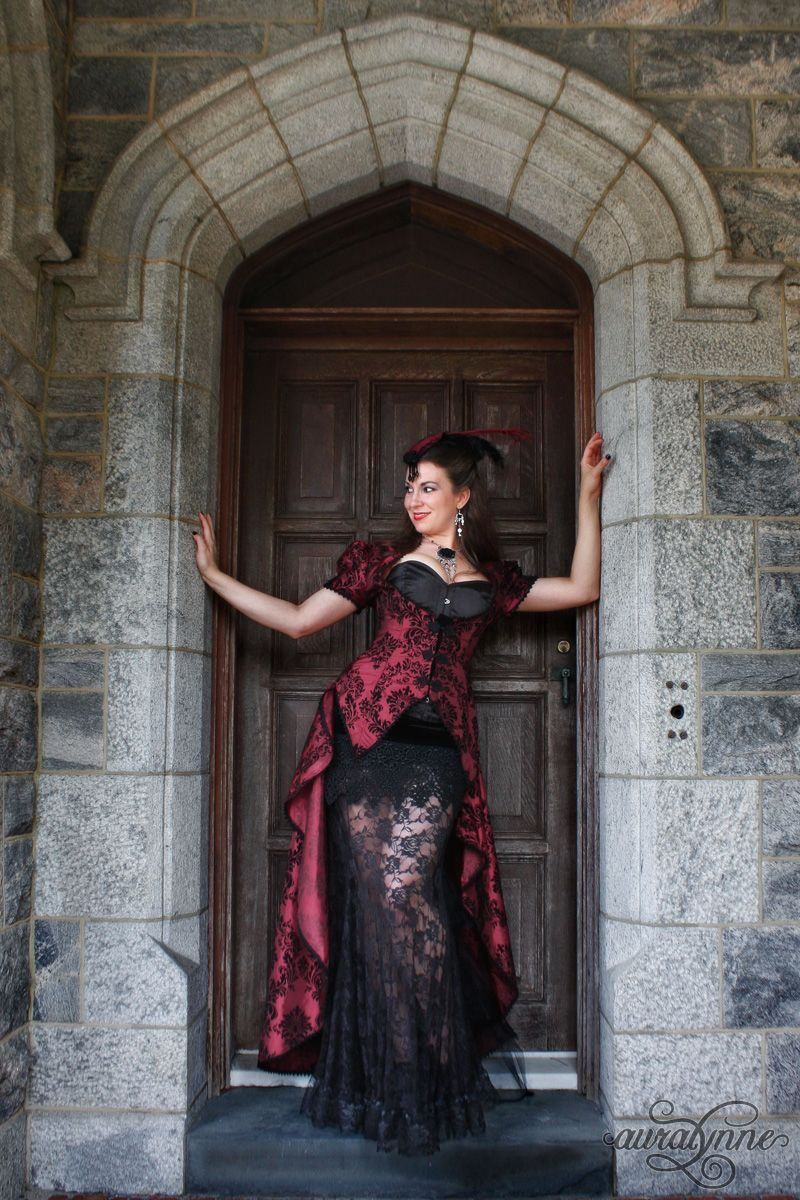 Black and white gothic wedding dresses  Burgundy and Black Gothic Wedding Gown  Gothic Wedding Dresses