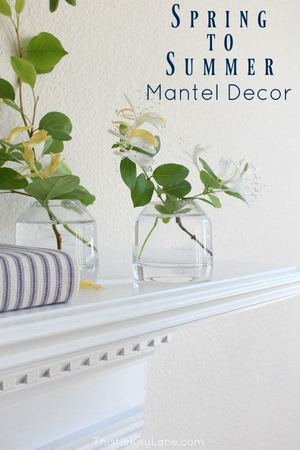 Styling A Spring To Summer Mantel images