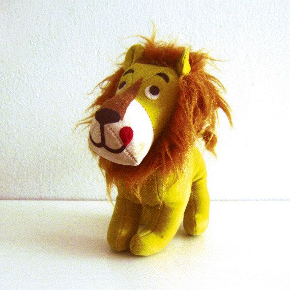 Vintage Dream Pet Dandy Lion Plush Dakin Toy Handmade Stuffed Animals Lion Toys Small Stuffed Animals