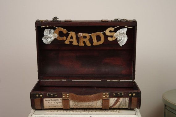 Wedding Card Box Suitcase Travel Themed By DuryeaPlaceDesigns 7000