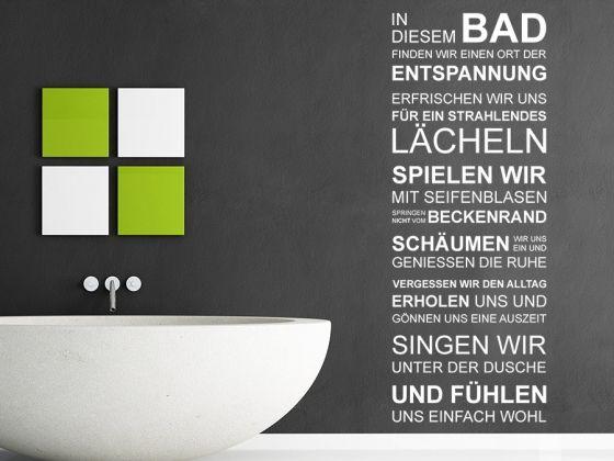 In diesem Bad Wandtattoo Idee zur Gestaltung der Wände im - Wandtattoos Fürs Badezimmer