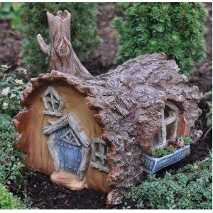 Attrayant Fairy Garden LOG HOUSE Fairy Home Georgetown Home U0026 Garden Fiddlehead