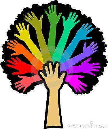 diversity rainbow tree eps by connie larsen via dreamstime church rh pinterest com Transformers Clip Art Diversity Day Clip Art