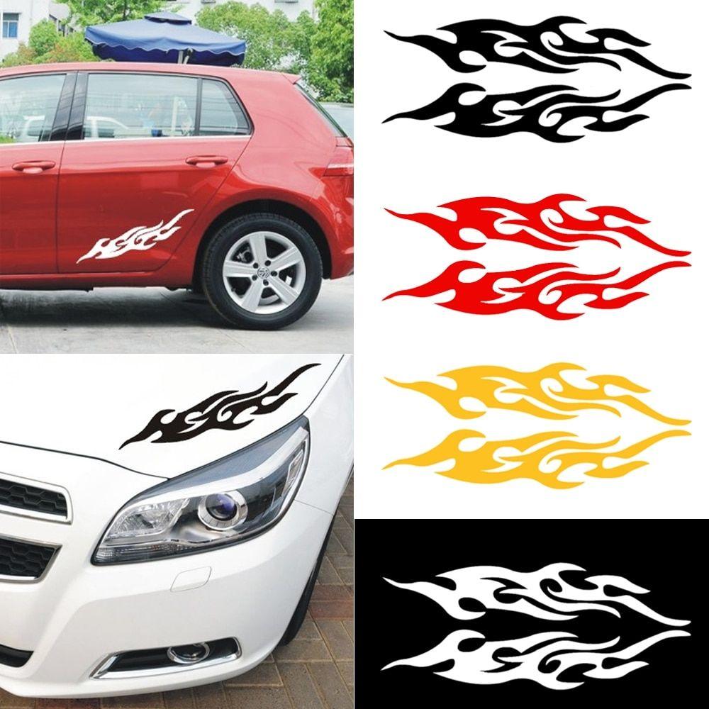 Universal Engine Hood Vinyl Covers Auto Flame Fire Car Styling Sticker Vortexmall Car Bumper Stickers Car Stickers Car Bumper [ 1000 x 1000 Pixel ]