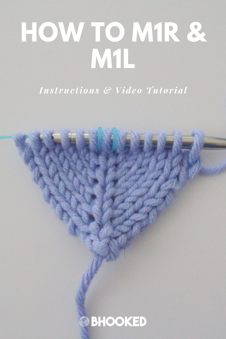 Knitting Increases: M1R and M1L Tutorial – B.Hooked Tutorial
