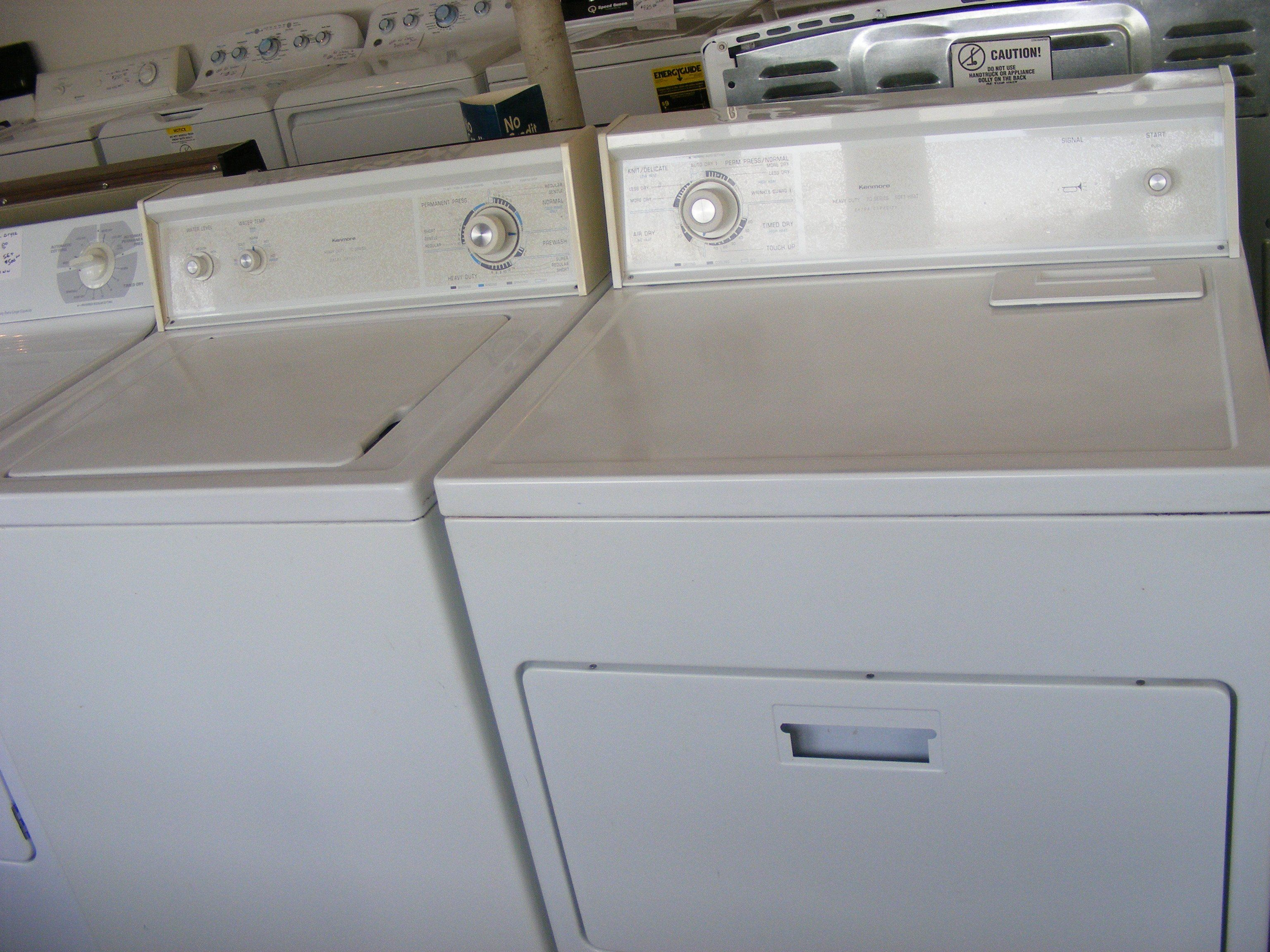 Used Reconditioned White Kenmore Washer And Dryer Set 11092573210 In 2021 Kenmore Washer Washer And Dryer Best Appliances