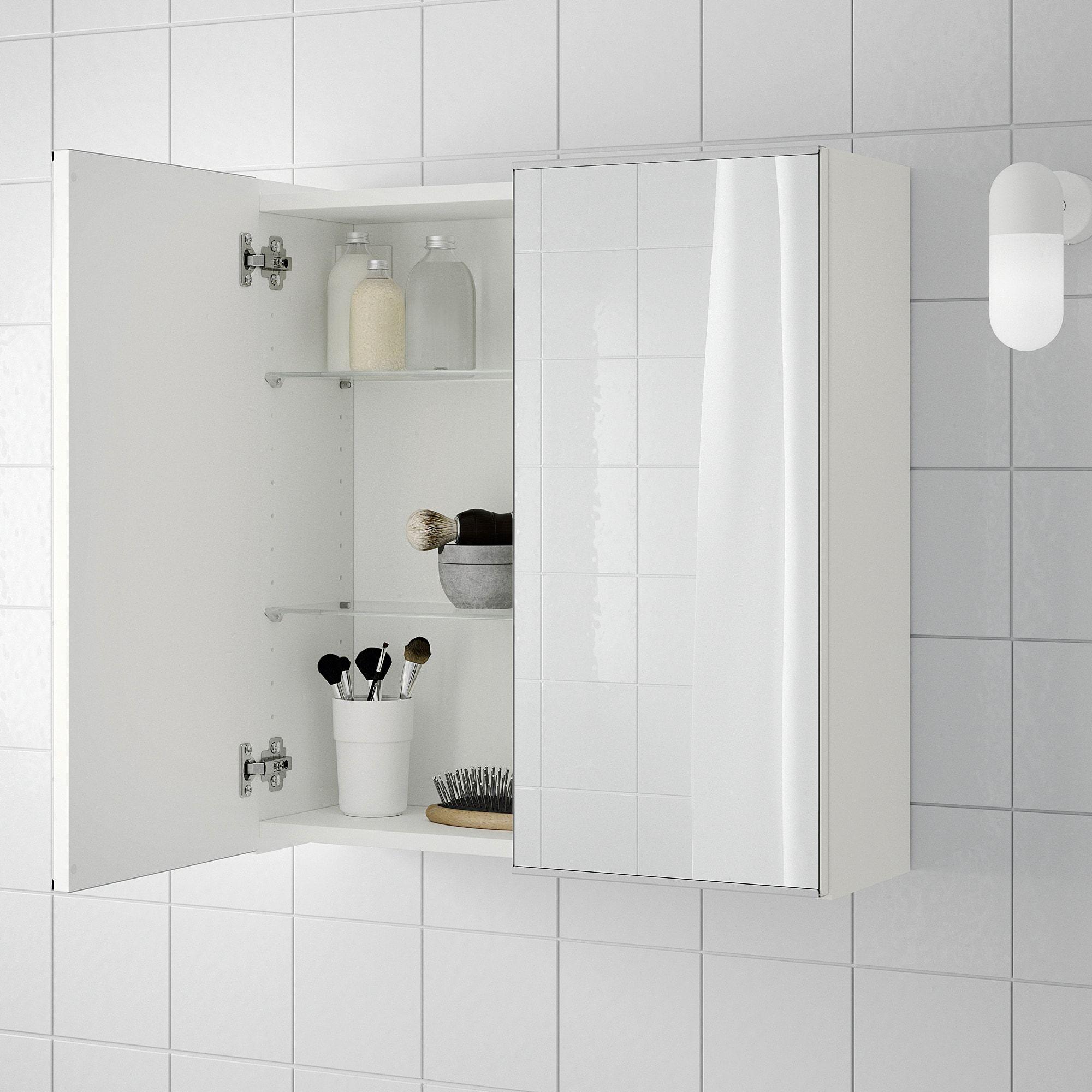 Lillangen Ormaric S Ogledalom I 2 Vrata Bela Ikea In 2020 Bathroom Mirror Cabinet Mirror Cabinets Bathroom Cabinets Designs