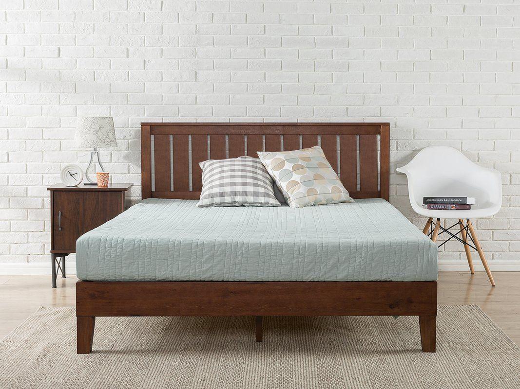 Hill Platform Bed Solid wood platform bed, Wood
