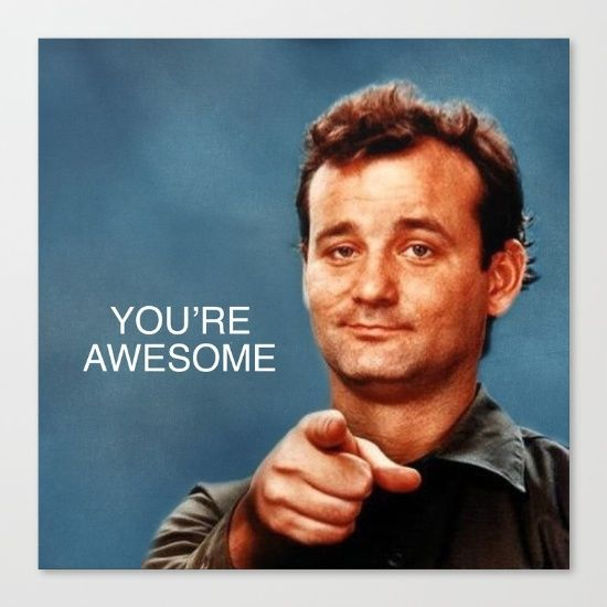 """Awesome Meme: Buy Bill Murray """"You're Awesome"""" (Ghostbusters/Stripes"""