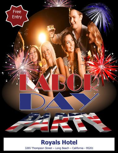 Closed For Labor Day Flyer. Labor Day Party Flyer Template ...