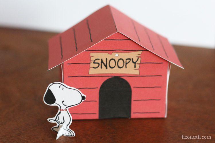 Printable Snoopy Dog House Kid Craft Snoopy Dog House Snoopy