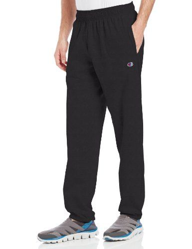 Champion Mens Closed Bottom Light Weight Jersey Sweatpant