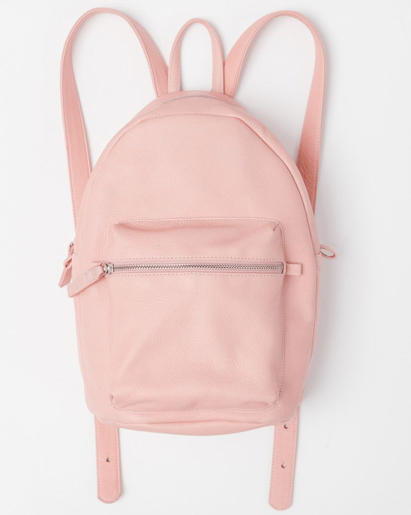 Leather Backpack | Pastel, Leather backpacks and The go
