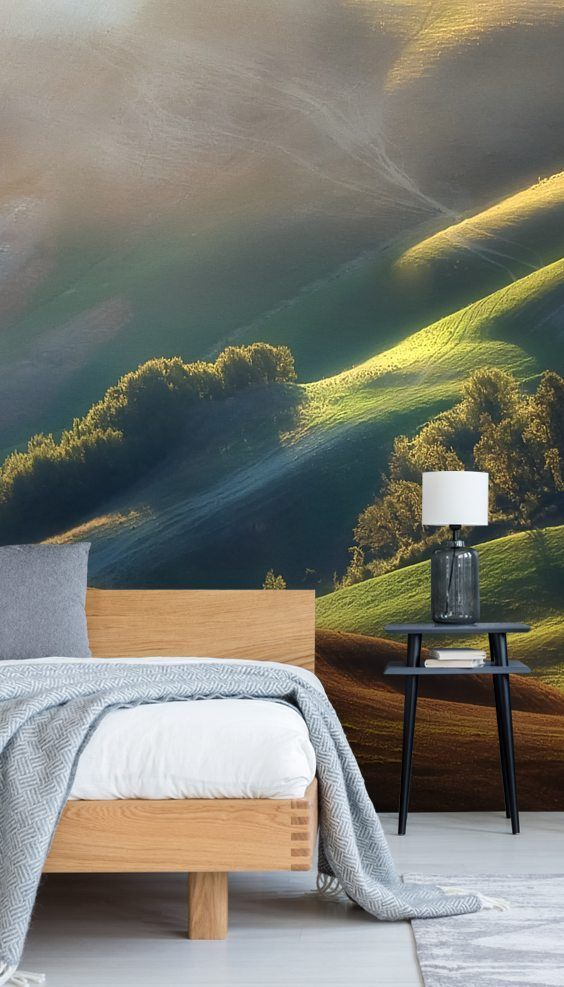 Stunning Tuscany Sunrise wall mural from Wallsauce. This