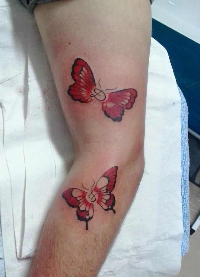 butterflies with initials