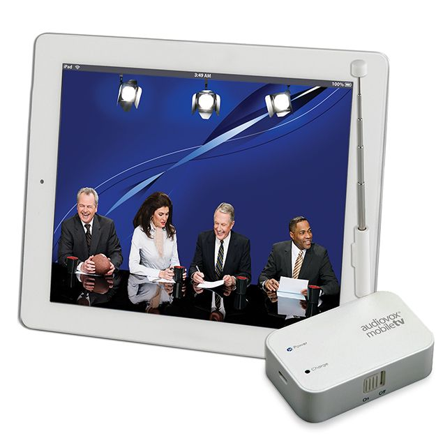 Cut the cord and ditch your cable box because the Audiovox mobiletv Receiver with DYLE mobile TV lets you watch local programming using a TV signal.